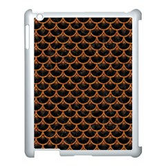 Scales3 Black Marble & Rusted Metal (r) Apple Ipad 3/4 Case (white)