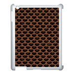SCALES3 BLACK MARBLE & RUSTED METAL (R) Apple iPad 3/4 Case (White) Front