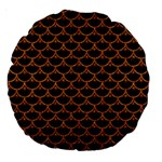 SCALES3 BLACK MARBLE & RUSTED METAL (R) Large 18  Premium Round Cushions Back