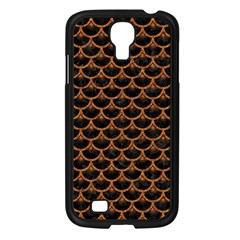 Scales3 Black Marble & Rusted Metal (r) Samsung Galaxy S4 I9500/ I9505 Case (black)