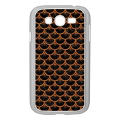 Scales3 Black Marble & Rusted Metal (r) Samsung Galaxy Grand Duos I9082 Case (white)