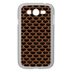SCALES3 BLACK MARBLE & RUSTED METAL (R) Samsung Galaxy Grand DUOS I9082 Case (White) Front