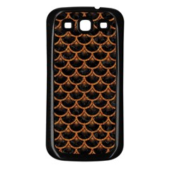 Scales3 Black Marble & Rusted Metal (r) Samsung Galaxy S3 Back Case (black)