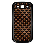 SCALES3 BLACK MARBLE & RUSTED METAL (R) Samsung Galaxy S3 Back Case (Black) Front