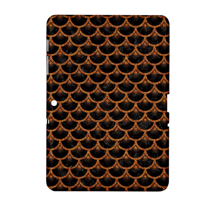 SCALES3 BLACK MARBLE & RUSTED METAL (R) Samsung Galaxy Tab 2 (10.1 ) P5100 Hardshell Case