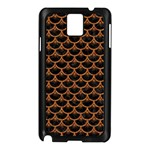 SCALES3 BLACK MARBLE & RUSTED METAL (R) Samsung Galaxy Note 3 N9005 Case (Black) Front