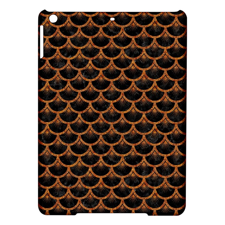 SCALES3 BLACK MARBLE & RUSTED METAL (R) iPad Air Hardshell Cases