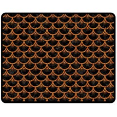 Scales3 Black Marble & Rusted Metal (r) Double Sided Fleece Blanket (medium)