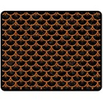 SCALES3 BLACK MARBLE & RUSTED METAL (R) Double Sided Fleece Blanket (Medium)  58.8 x47.4 Blanket Front