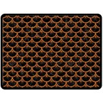 SCALES3 BLACK MARBLE & RUSTED METAL (R) Double Sided Fleece Blanket (Large)  80 x60 Blanket Back