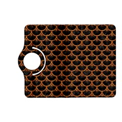 Scales3 Black Marble & Rusted Metal (r) Kindle Fire Hd (2013) Flip 360 Case