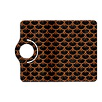 SCALES3 BLACK MARBLE & RUSTED METAL (R) Kindle Fire HD (2013) Flip 360 Case Front