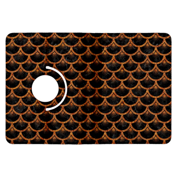 SCALES3 BLACK MARBLE & RUSTED METAL (R) Kindle Fire HDX Flip 360 Case