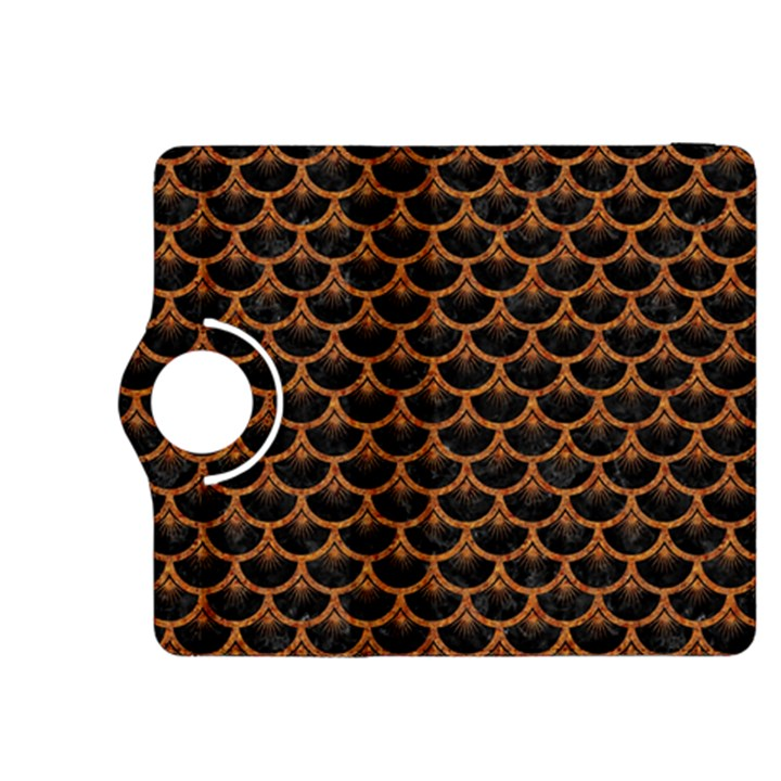 SCALES3 BLACK MARBLE & RUSTED METAL (R) Kindle Fire HDX 8.9  Flip 360 Case
