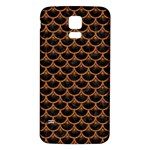 SCALES3 BLACK MARBLE & RUSTED METAL (R) Samsung Galaxy S5 Back Case (White) Front