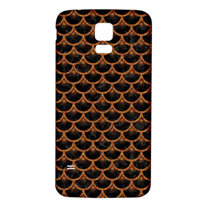 SCALES3 BLACK MARBLE & RUSTED METAL (R) Samsung Galaxy S5 Back Case (White)