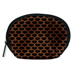 SCALES3 BLACK MARBLE & RUSTED METAL (R) Accessory Pouches (Medium)  Front
