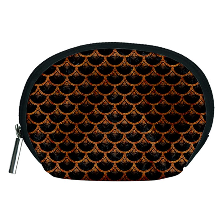 SCALES3 BLACK MARBLE & RUSTED METAL (R) Accessory Pouches (Medium)