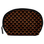 SCALES3 BLACK MARBLE & RUSTED METAL (R) Accessory Pouches (Large)  Front