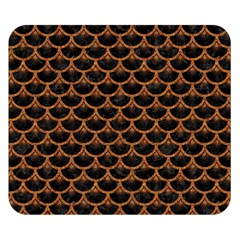 Scales3 Black Marble & Rusted Metal (r) Double Sided Flano Blanket (small)