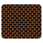 SCALES3 BLACK MARBLE & RUSTED METAL (R) Double Sided Flano Blanket (Small)  50 x40 Blanket Back