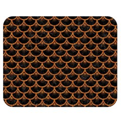 Scales3 Black Marble & Rusted Metal (r) Double Sided Flano Blanket (medium)