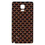 SCALES3 BLACK MARBLE & RUSTED METAL (R) Galaxy Note 4 Back Case Front