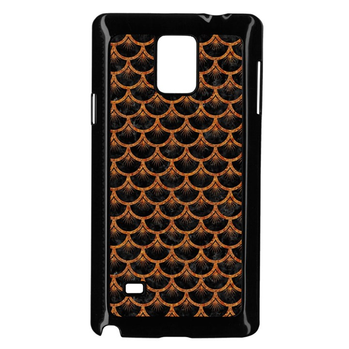 SCALES3 BLACK MARBLE & RUSTED METAL (R) Samsung Galaxy Note 4 Case (Black)