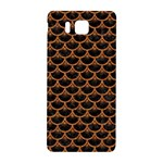 SCALES3 BLACK MARBLE & RUSTED METAL (R) Samsung Galaxy Alpha Hardshell Back Case Front