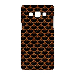 Scales3 Black Marble & Rusted Metal (r) Samsung Galaxy A5 Hardshell Case