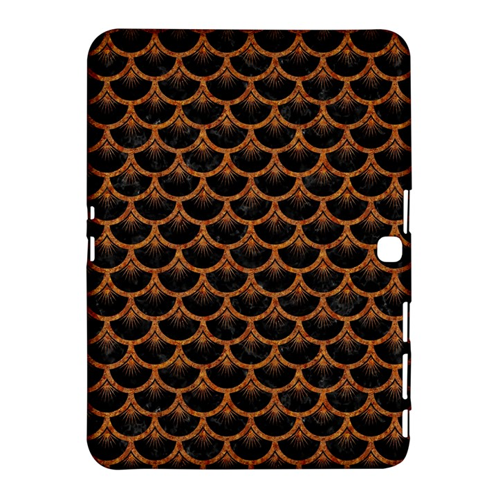 SCALES3 BLACK MARBLE & RUSTED METAL (R) Samsung Galaxy Tab 4 (10.1 ) Hardshell Case