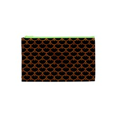 Scales3 Black Marble & Rusted Metal (r) Cosmetic Bag (xs)