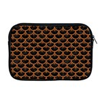 SCALES3 BLACK MARBLE & RUSTED METAL (R) Apple MacBook Pro 17  Zipper Case Front