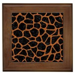 SKIN1 BLACK MARBLE & RUSTED METAL Framed Tiles Front