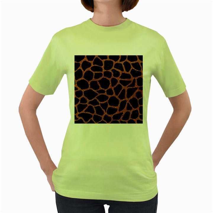 SKIN1 BLACK MARBLE & RUSTED METAL Women s Green T-Shirt