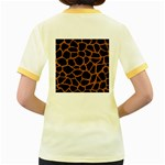 SKIN1 BLACK MARBLE & RUSTED METAL Women s Fitted Ringer T-Shirts Back