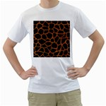 SKIN1 BLACK MARBLE & RUSTED METAL Men s T-Shirt (White) (Two Sided) Front