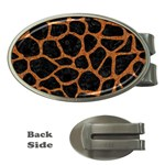 SKIN1 BLACK MARBLE & RUSTED METAL Money Clips (Oval)  Front