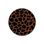 SKIN1 BLACK MARBLE & RUSTED METAL Rubber Coaster (Round)  Front