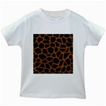 SKIN1 BLACK MARBLE & RUSTED METAL Kids White T-Shirts Front