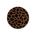 SKIN1 BLACK MARBLE & RUSTED METAL Magnet 3  (Round) Front