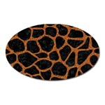 SKIN1 BLACK MARBLE & RUSTED METAL Oval Magnet Front