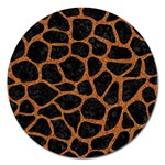 SKIN1 BLACK MARBLE & RUSTED METAL Magnet 5  (Round) Front