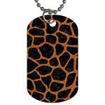 SKIN1 BLACK MARBLE & RUSTED METAL Dog Tag (One Side) Front