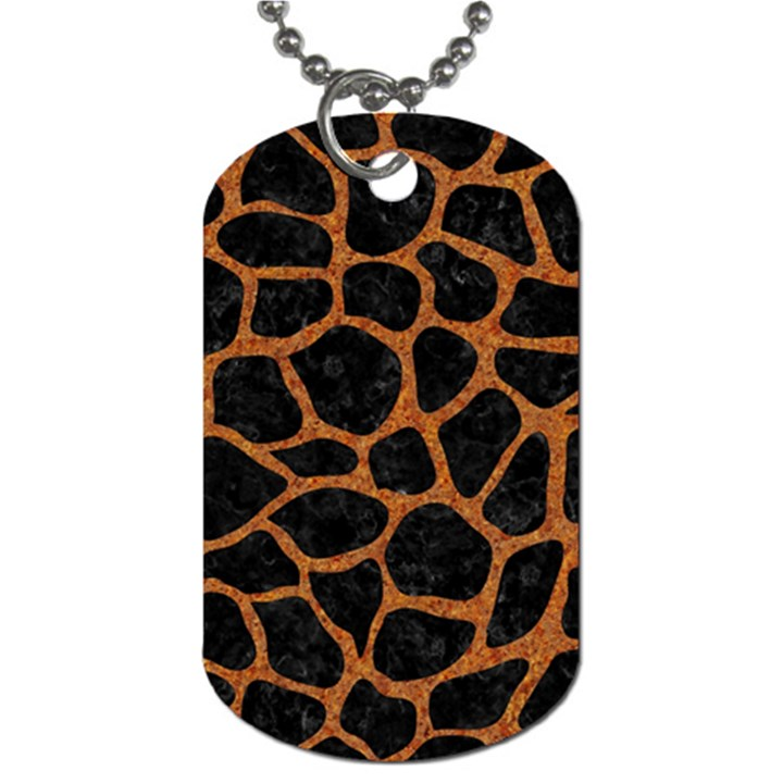 SKIN1 BLACK MARBLE & RUSTED METAL Dog Tag (One Side)
