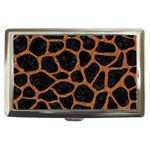 SKIN1 BLACK MARBLE & RUSTED METAL Cigarette Money Cases Front