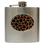 SKIN1 BLACK MARBLE & RUSTED METAL Hip Flask (6 oz) Front