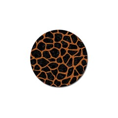 Skin1 Black Marble & Rusted Metal Golf Ball Marker (4 Pack)