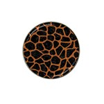 SKIN1 BLACK MARBLE & RUSTED METAL Hat Clip Ball Marker (4 pack) Front