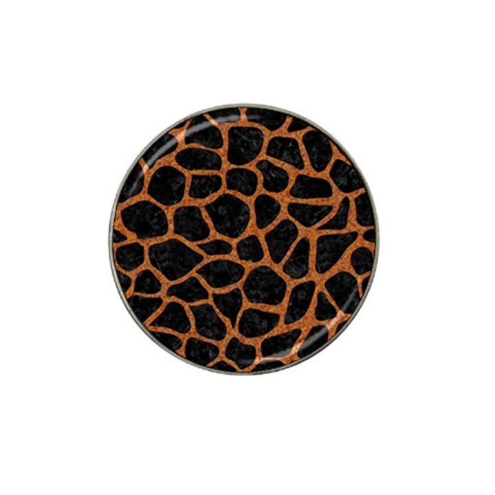 SKIN1 BLACK MARBLE & RUSTED METAL Hat Clip Ball Marker (10 pack)